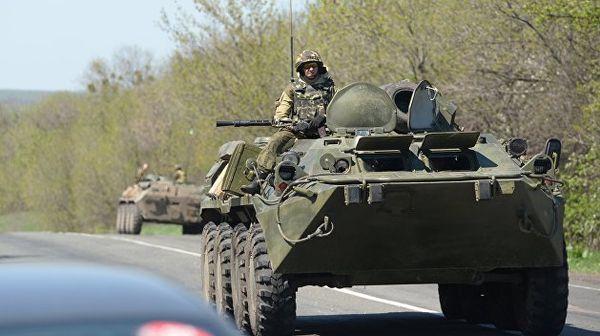 В Киев вошла колонна военной техники