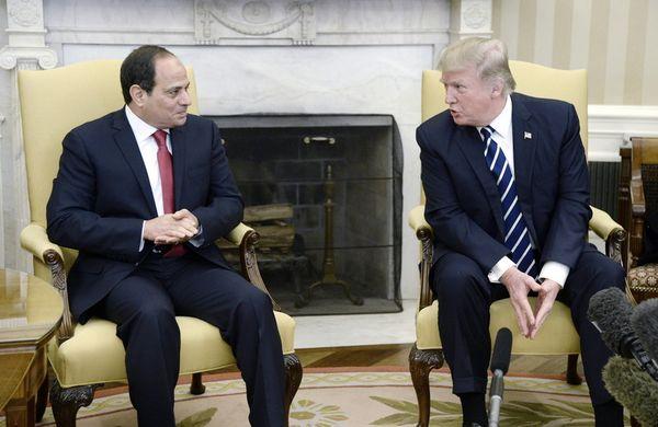 трамп угрожает египту